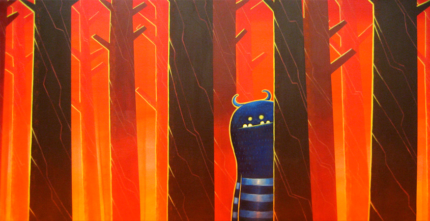 Stranger in the Woods - 2009 - Acrylic on Canvas