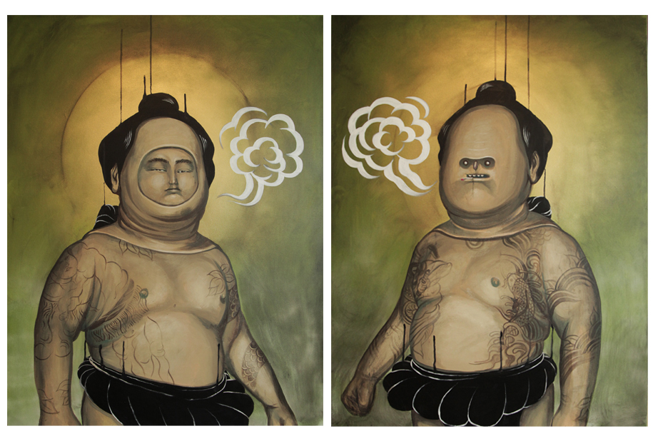 Doppelganger part 3 - 2013 - Acrylic on Canvas