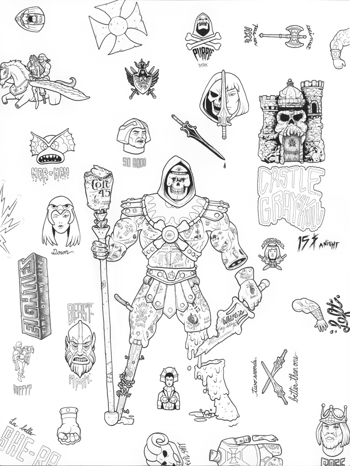 He-Man Flash - ink on illustration board